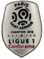 2018 French Ligue 1 Champion Badge