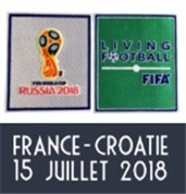 2018 World Cup Final France Vs Croatie Badge & World Cup Badge