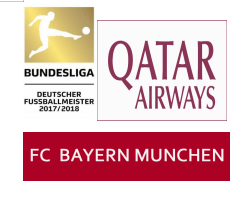 German Bundesliga 17/18 Champions Badge&Qatar Airways badge&FC BAYERN MUNCHEN