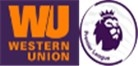 Premier League & Western Union Badge purple--$6