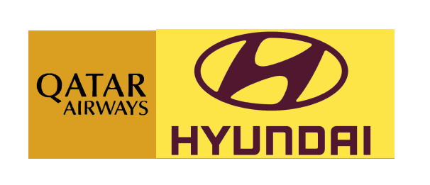 Oatar Airways Sponsor(Black)&Hyundri(Brown)Sponsor $0 Free