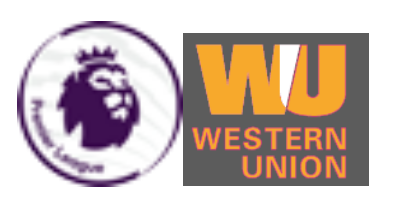 Premier League & Western Union Badge grey--$6