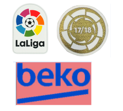 Spainish La Liga&17-18 La Liga Champion& Beko Badges