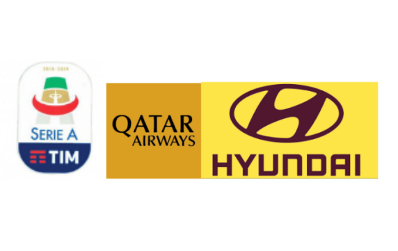 Italian Serie A &Oatar Airways(Black)&Hyundri(Brown)Sponsor