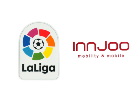 Spainish La Liga Badge & Innjoo Sponsor(White)--$5