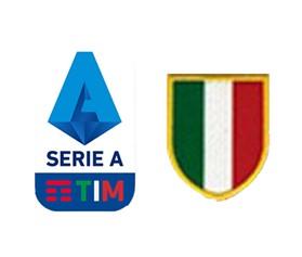 19/20 Italian Serie A & Scudetto Italia Badge--$5