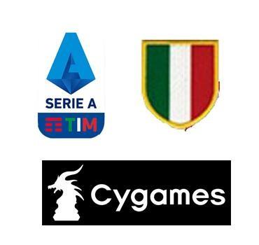 19/20 Italian Serie A & Scudetto Italia Badge & Cygames logo--$6