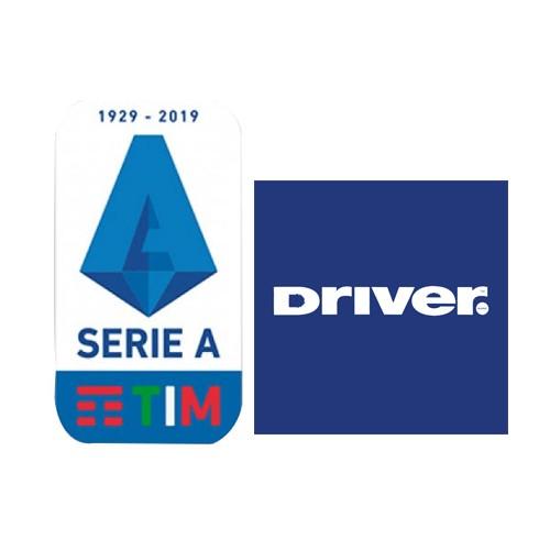 19/20 Italian Serie A & Driver Sponsor(White)Badge--$5