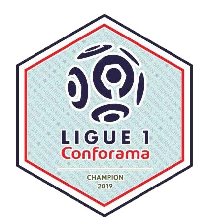 2019 French Ligue 1 Champion Badge--$5