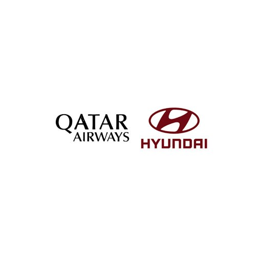 Oatar Airways(Black)&Hyundri(Red)Sponsor--$0