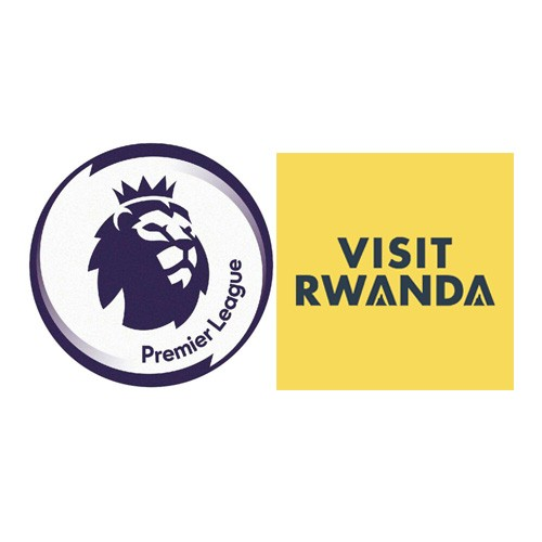 Premier League & Visit Rwanda Badge Navy price--$5