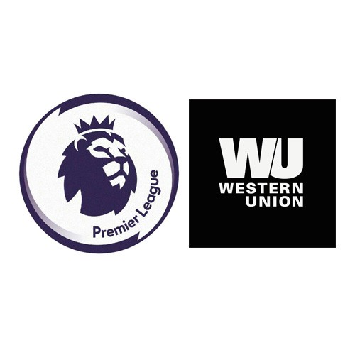 Premier League & Western Union Badge White price --$5