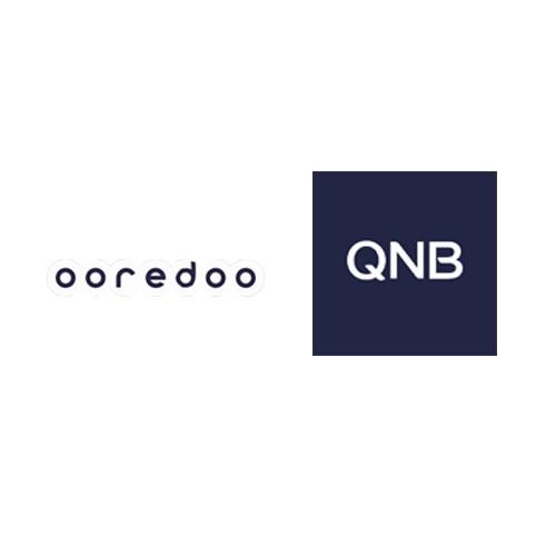 OOREDOO Sponsor(White)&QNB Sponsor(White)