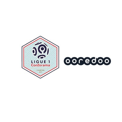 2019 French Ligue 1 Champion Badge & OOREDOO Sponsor(Navy)--$5