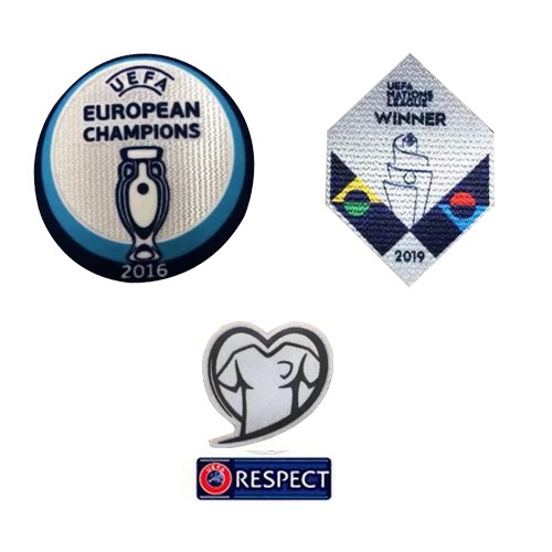 2016 Euro Cup Champions & 2019 UEFA Nations League Winner & EURO Qualifiers & Respect Badge--$8