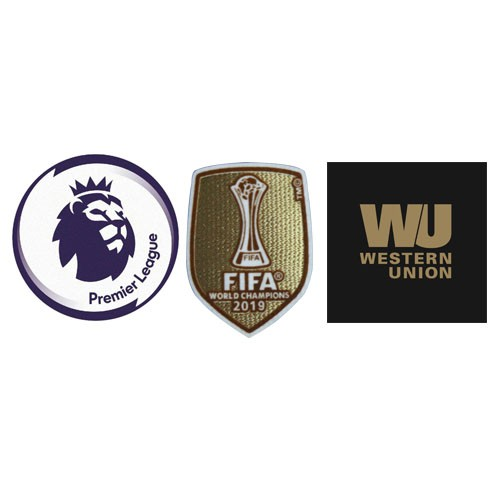 Premier League & 2019 Club World Cup Badges & Western Union Badge Golden--$6