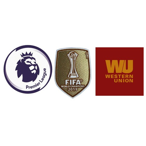 Premier League & 2019 Club World Cup Badges & Western Union Badge Yellow--$6