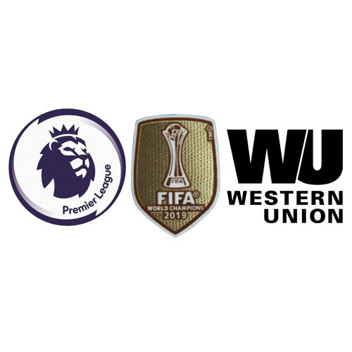 Premier League & 2019 Club World Cup Badges & Western Union Badge Black--$6