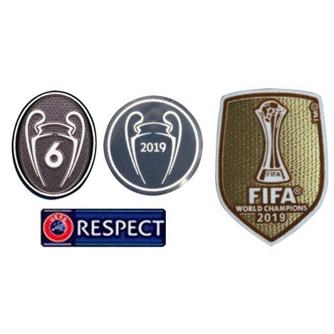 2019 UCL Champions & Honor 6 Cups & Respect & 2019 Club World Cup Badges--$8