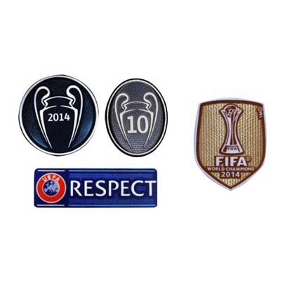 2014 UCL Champions & Honor 10 Cups & Respect & 2014 Club World Cup Badges-$8