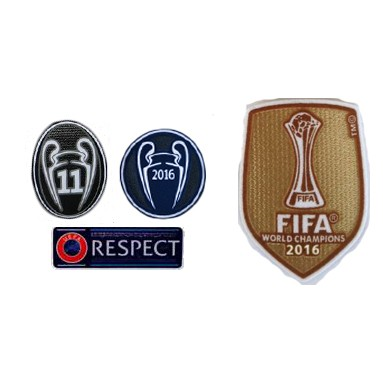 2016 UCL Champions,Honor 11 Cups,Respect&2016 Cup World Cup Badge-$8