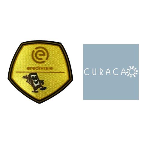 Eredivisie Champions Badge & CURACAO Badge White--5