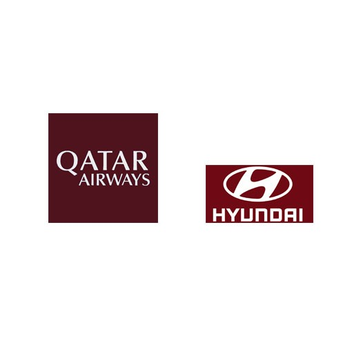 Oatar Airways(White)&Hyundri(White)Sponsor