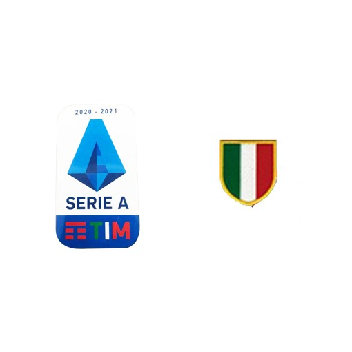 20/21 Italian Serie A & Scudetto Italia Badge--$5