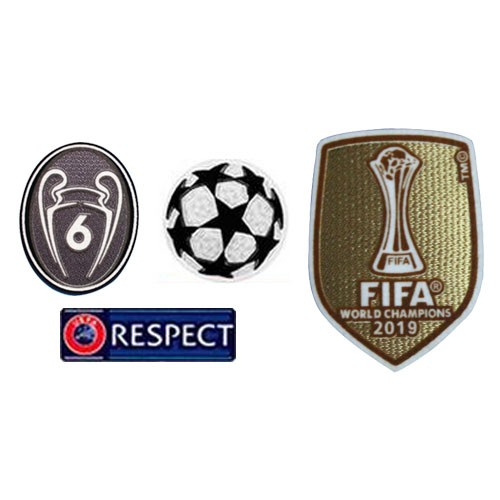 UCL & Honor 6 Cups & Respect & 2019 Club World Cup Badges--&8