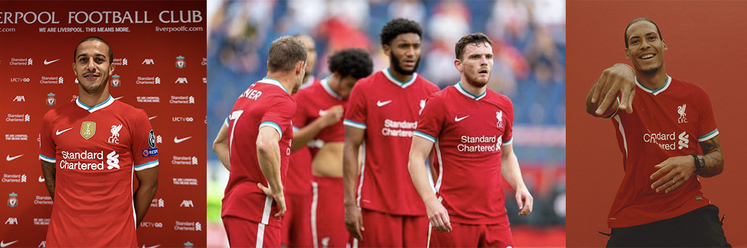 Red Stripes for the Liverpool Players in Home Team