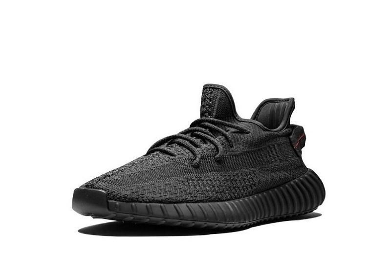 Adidas Yeezy 350 V2 'Black Static Non Reflective' Cleat