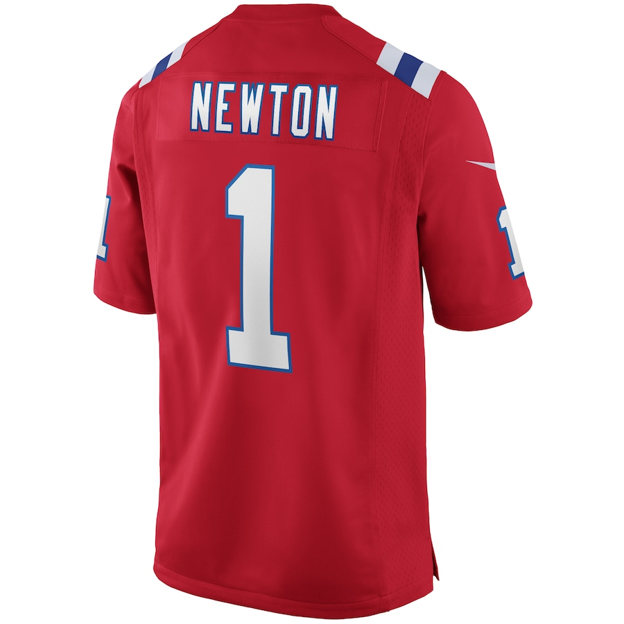Cam Newton New England Patriots Alternate Game Jersey - Red