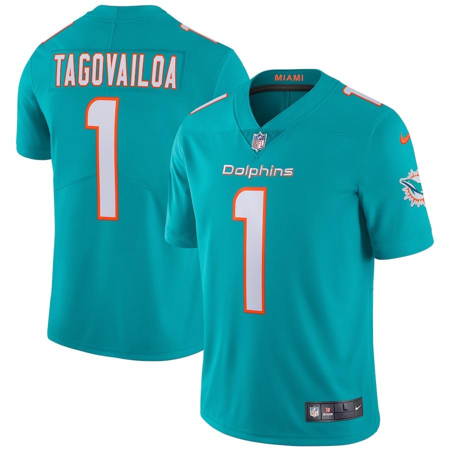 Tua Tagovailoa Miami Dolphins Vapor Limited Jersey - Aqua