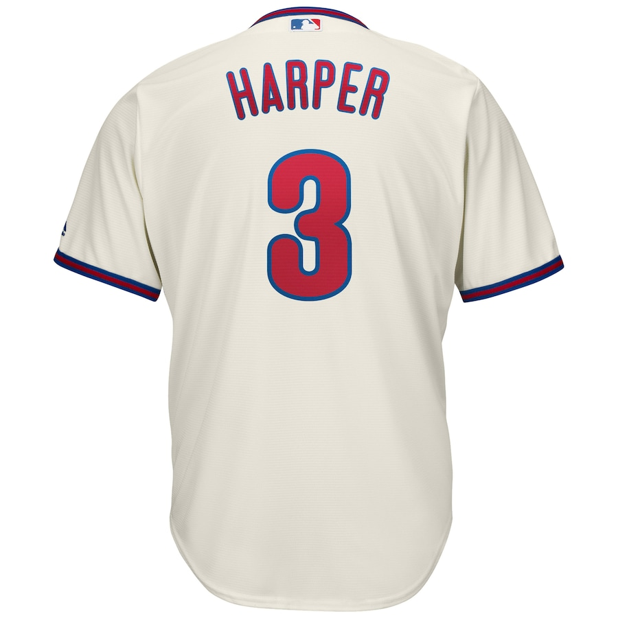 Bryce Harper Philadelphia Phillies Majestic Alternate Official Cool Base Player Jersey - Cream