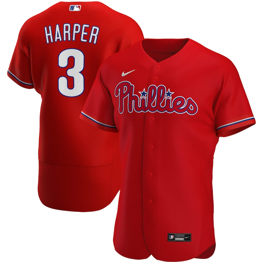Bryce Harper Philadelphia Phillies Alternate 2020 Authentic Player Jersey - Red
