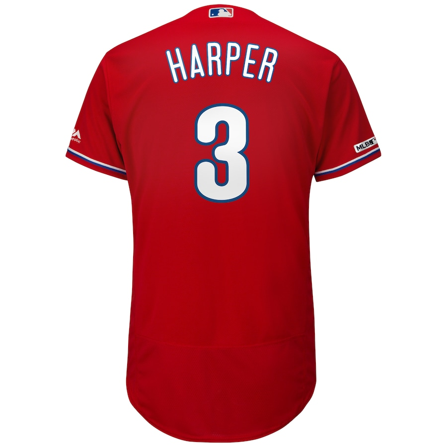 Bryce Harper Philadelphia Phillies Majestic Alternate Flex Base Authentic Collection Player Jersey - Scarlet
