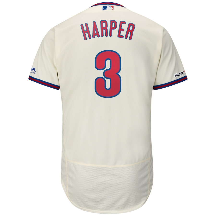 Bryce Harper Philadelphia Phillies Majestic Alternate Flex Base Authentic Collection Player Jersey - Cream