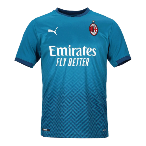 20/21 AC Milan Third Away Blue Soccer Jerseys Shirt(Player Version)