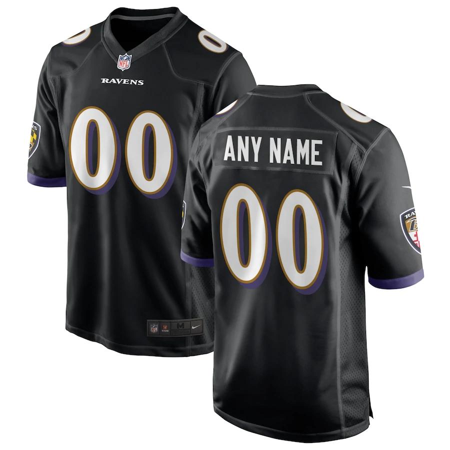 Men's Baltimore Ravens NFL Nike Black Alternate Vapor Limited Jersey