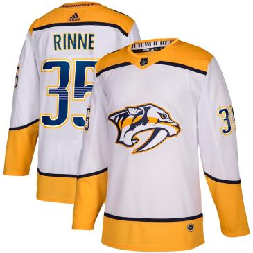 Pekka Rinne #35 Nashville Predators adidas Away Authentic Player Jersey - White