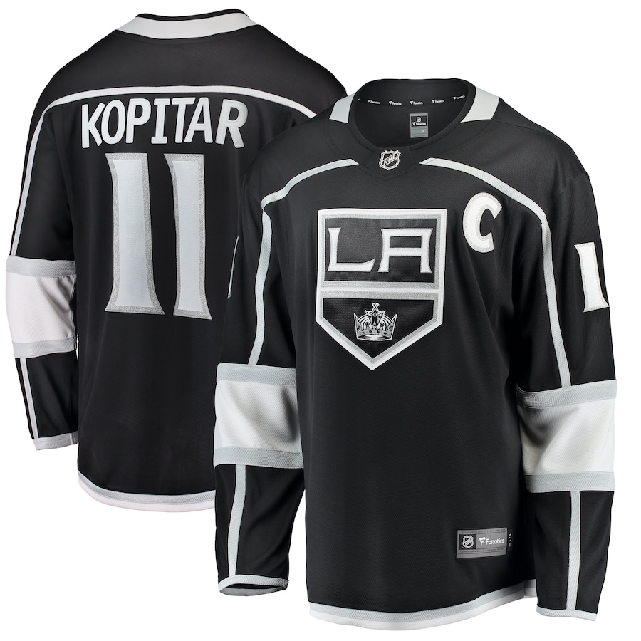 Anze Kopitar #11 Los Angeles Kings NHL Breakaway Player Jersey - Black