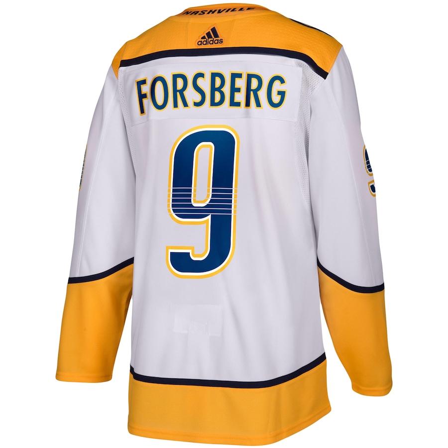 Filip Forsberg #9 Nashville Predators adidas Away Authentic Player Jersey - White