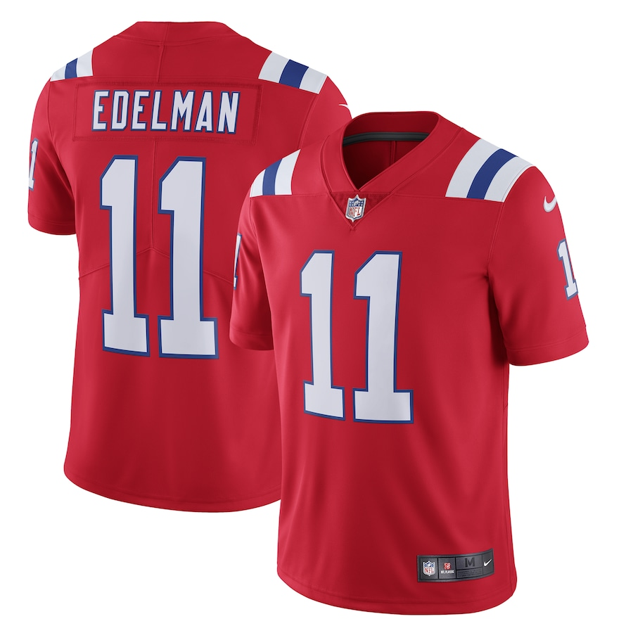Julian Edelman New England Patriots Nike Alternate Vapor Limited Jersey - Red