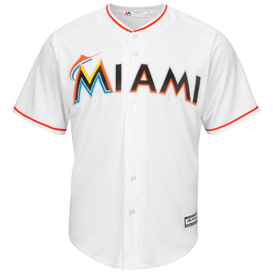 Miami Marlins Majestic Big & Tall Cool Base Team Jersey - White