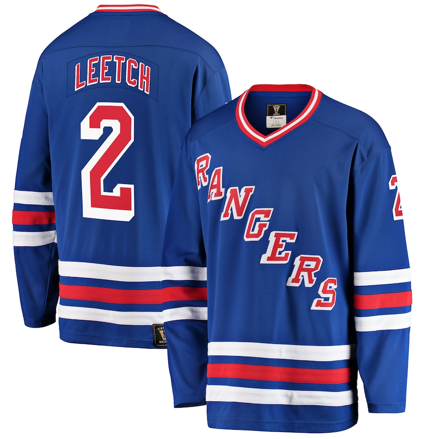 Brian Leetch #2 New York Rangers NHL Premier Breakaway Player Jersey - Blue