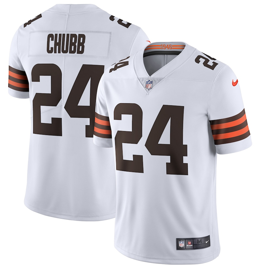 Nick Chubb Cleveland Browns Nike Vapor Limited Jersey - White