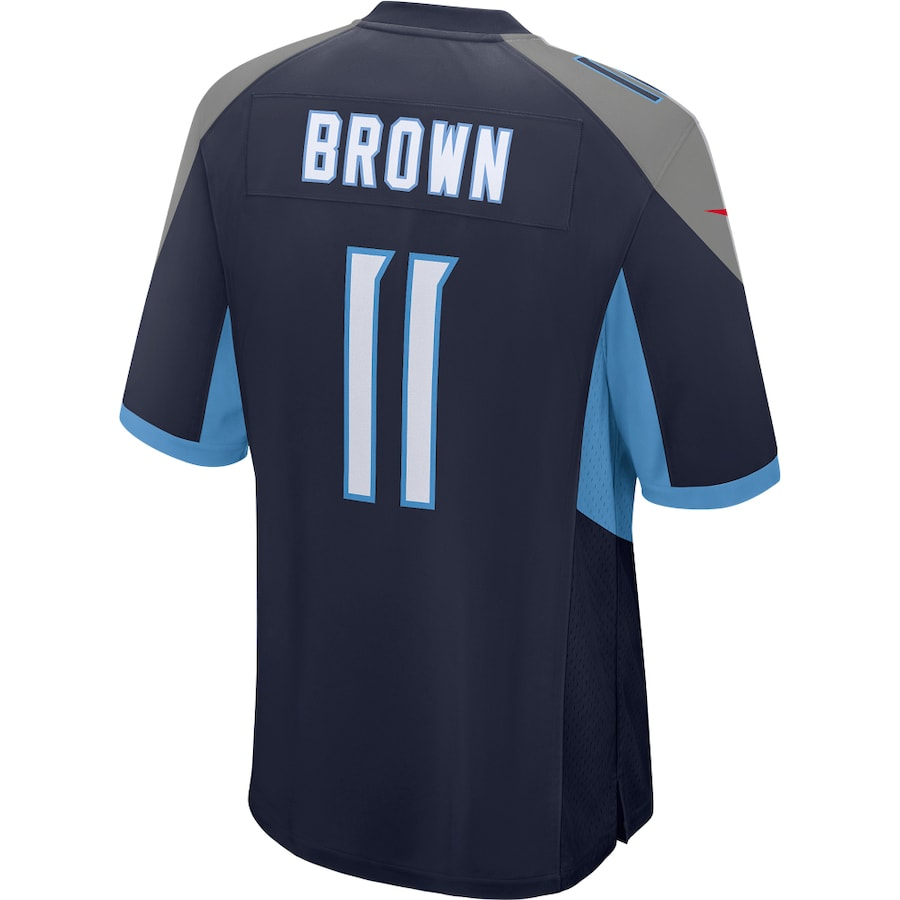 AJ Brown Tennessee Titans Nike Game Player Jersey - Navy