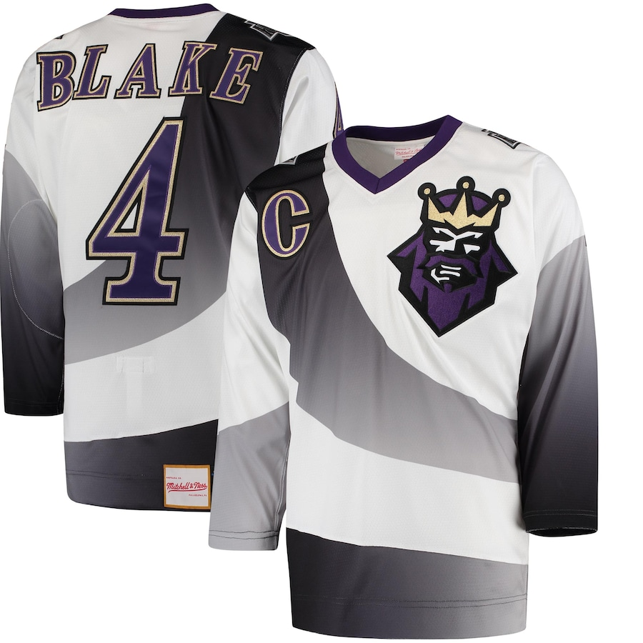 Rob Blake #4 Los Angeles Kings 1995/96 Throwback Alternate Authentic Vintage Jersey - White