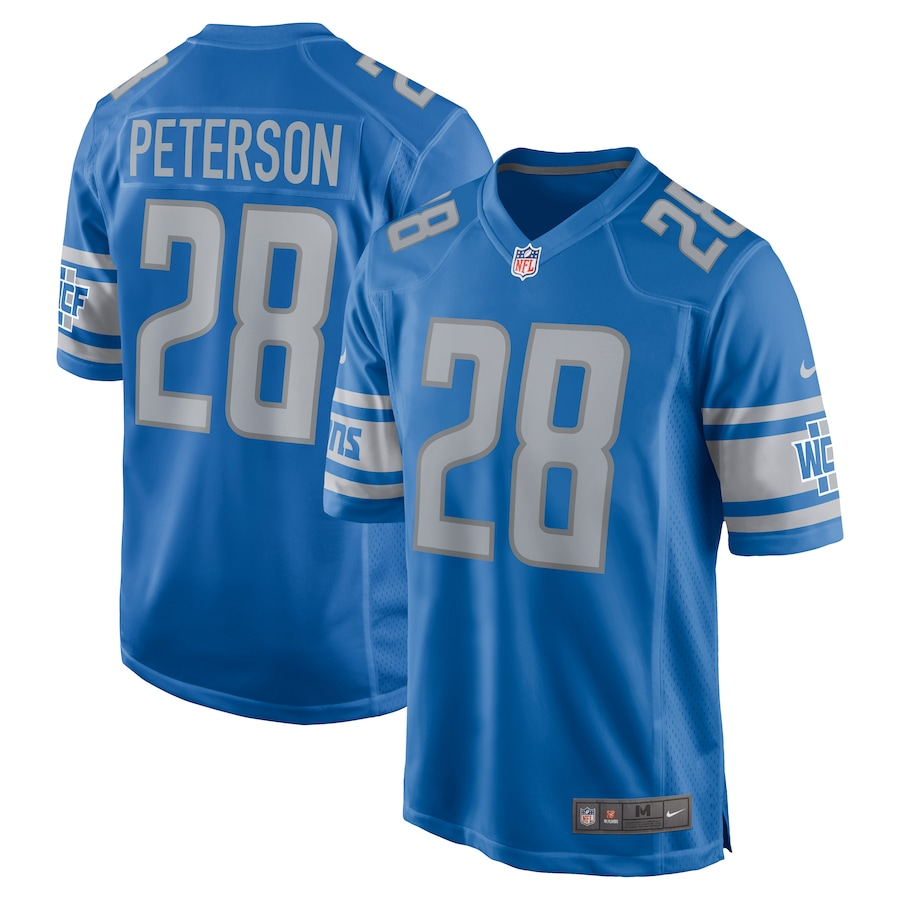 Adrian Peterson Detroit Lions Nike Game Jersey – Blue