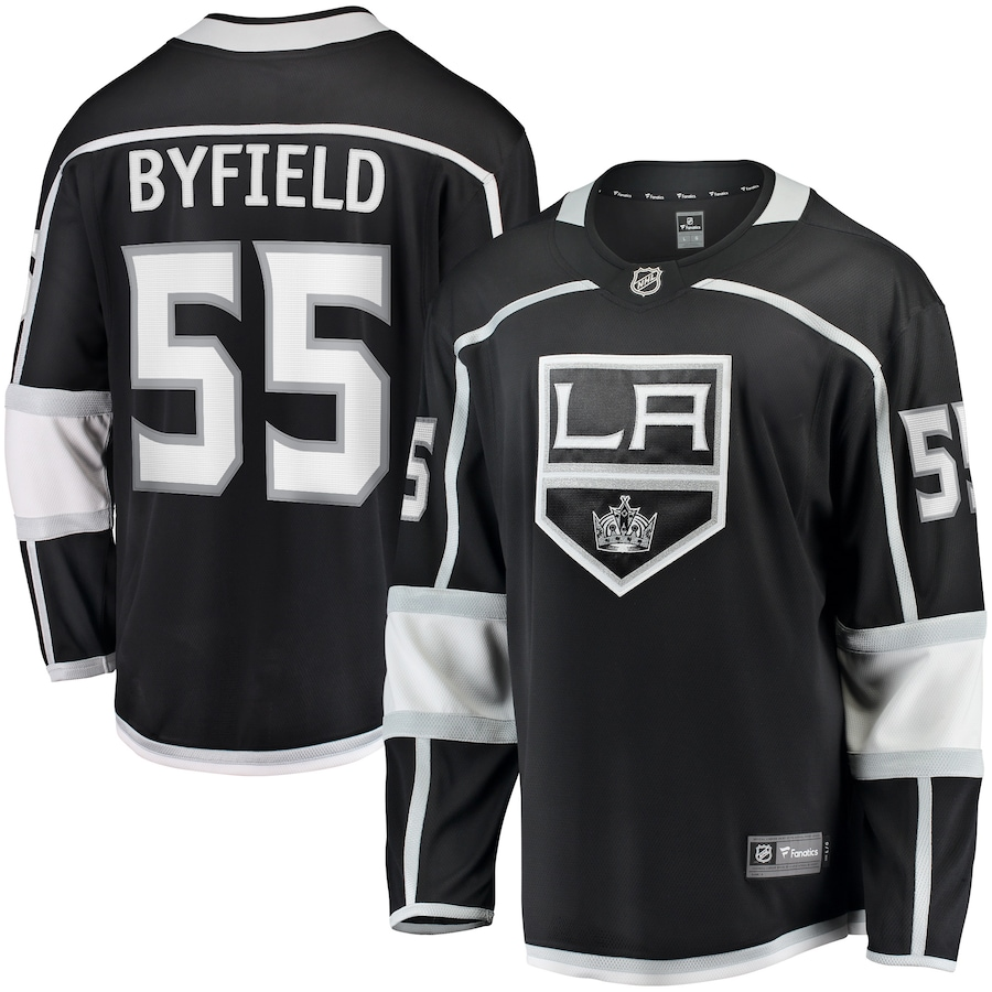 Quinton Byfield #55 Los Angeles Kings NHL Breakaway Player Jersey - Black